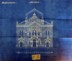 Abb. 4 Baueingabeplan, Neologe Synagoge