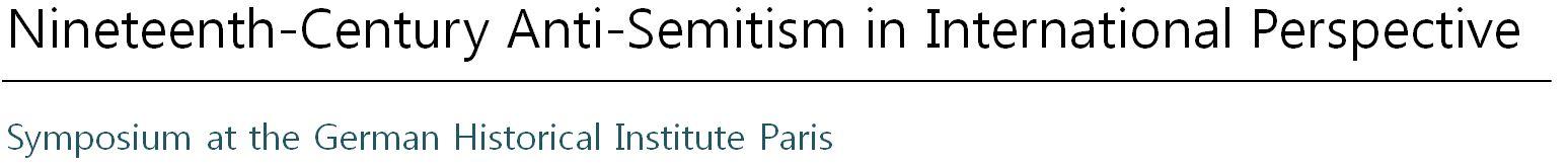 Nineteenth-Century Anti-Semitism in International Perspective